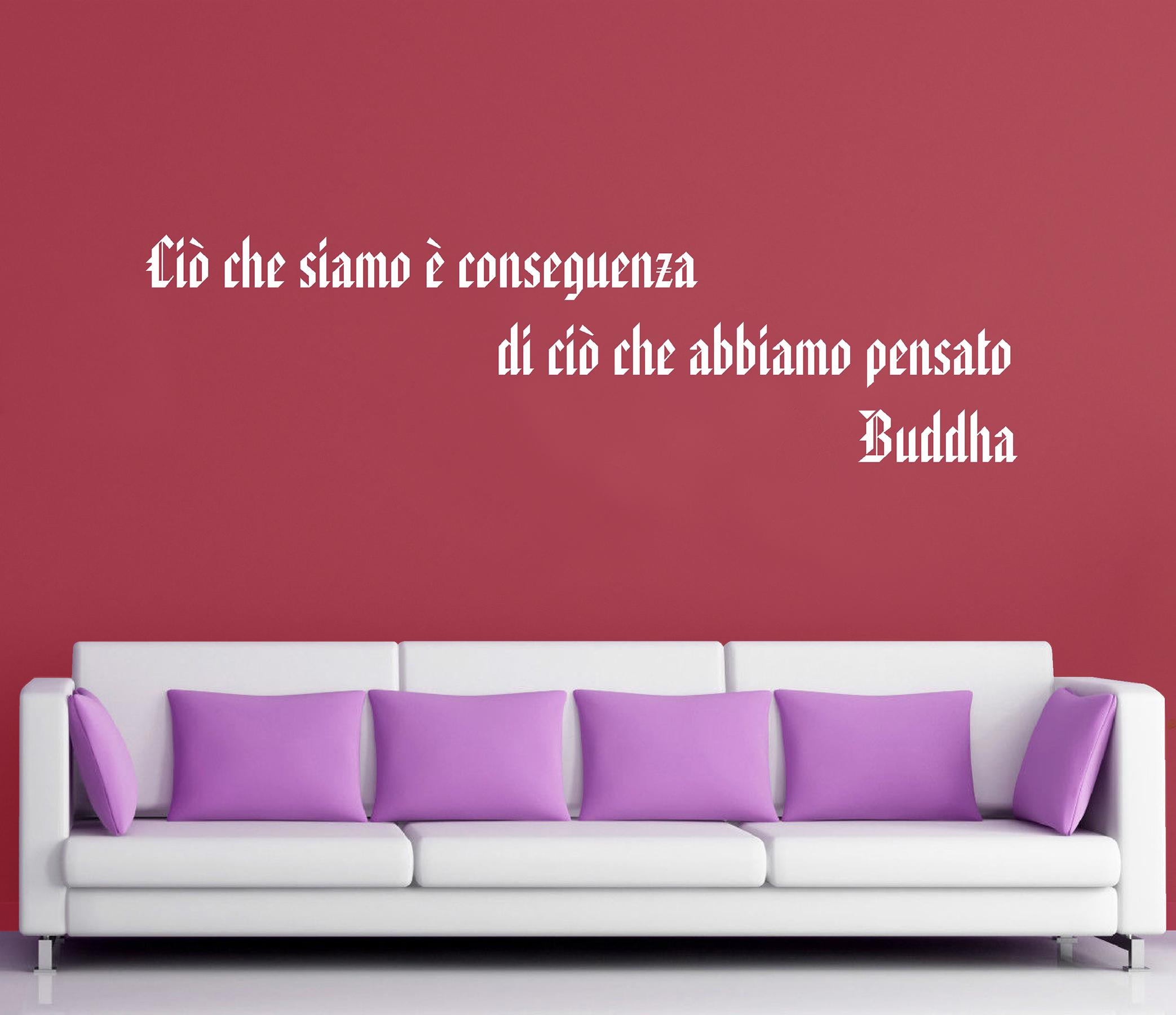 Wall stickers adesivi murali buddha aforismi frasi - Frasi spinte da dire a letto ...